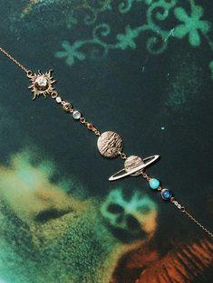 Solar System Bracelet - Solar System Bracelet – Sofia Zakia The Effective Pictures We Offer You About cute jewelry A qua - Cute Jewelry, Boho Jewelry, Vintage Jewelry, Jewelry Accessories, Jewelry Necklaces, Fashion Jewelry, Unique Jewelry, Space Jewelry, Gothic Jewelry