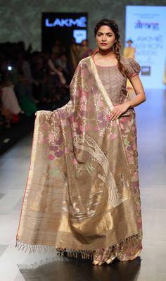 By designer Gaurang. Shop for your wedding trousseau, with a personal shopper & stylist in India - Bridelan, visit our website www.bridelan.com #Bridelan #gaurang #lakmefashionweek