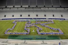 "Freshmen create the ""K"" in the beginning of their college careers at Commonwealth Stadium"