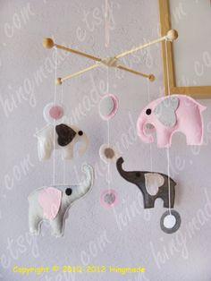 Baby Mobile  Nursery Mobile  Elephants Mobile  Baby by hingmade, $79.00