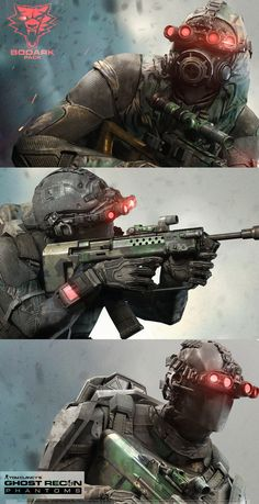 Ghost Recon Phantom /Bodark Pack -All 3 Classes, Khan SevenFrames on ArtStation at https://www.artstation.com/artwork/ghost-recon-phantom-bodark-pack-all-3-classes-5dbec9f7-21d8-4cd9-8e2c-ee78da9d674c