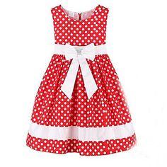 de la muchacha de los niños del arco punto rojo de la boda desfile fiesta ropa vestidos preciosos – USD $ 21.99