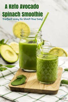 A Keto Avocado Spinach Smoothie Perfect Way to Start the Day - Spinat rezepte Smoothie King, Smoothie Bowl, Avocado Smoothie, Fruit Smoothies, Healthy Smoothies, Detox Smoothies, Healthy Drinks, Keto Smoothie Recipes, Keto Recipes