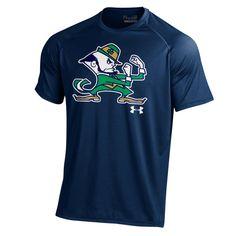 Notre Dame Fighting Irish Under Armour Leprechaun Tech Performance T-Shirt – Navy Blue