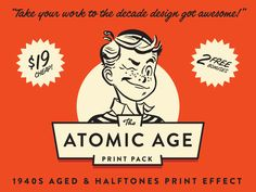 Now you can get 100% customizable vintage halftone and ink effects fast. This pack was inspired by the awesome print work of the 1940s.   (You've got to see the option that allows you to totally de...