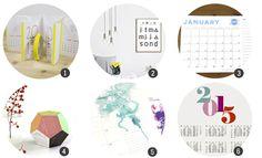 Imprimibles: 18 calendarios de 2015 para imprimir gratis