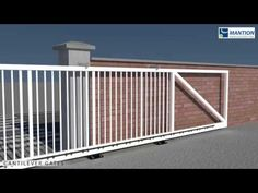 Cantilever sliding gate system - YouTube