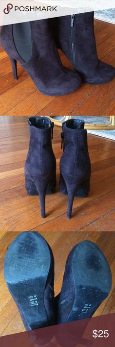 Black booties! Black suede booties gently used!!!! Size 8 with zipper closure. Michael Antonio Shoes Ankle Boots & Booties