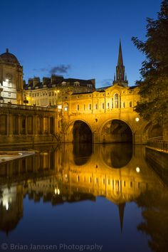 Twilight over Bath, England.  © Brian Jannsen Photography