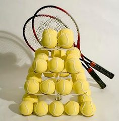 Tennis Party Idea - Tennis Ball Cake