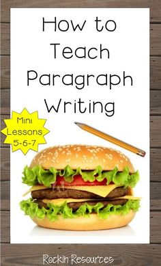 HOW TO TEACH PARAGRAPH WRITING- This blog post includes ideas from 3 mini lessons: Topic sentences, relevant details and clinchers.