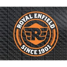 Royal enfield since 1901 logo sticker in Dual Color Motos Royal Enfield, Royal Enfield Logo, Enfield Bike, Enfield Motorcycle, Motorcycle Art, New Motorcycles, Vintage Motorcycles, Royal Enfield Stickers, Classic 350 Royal Enfield