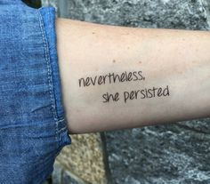 nevertheless, she persisted temporary tattoo