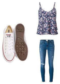 """""""Summer Outfit 🙈"""" by shizukami on Polyvore featuring Mode, Miss Selfridge, Frame und Converse"""