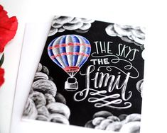 The Sky's The Limit Inspirational Card Chalk by TheWhiteLime