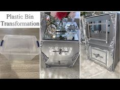 (10) DIY NIGHTSTAND FROM PLASTIC BIN! AMAZING HIGH END DECOR ON A BUDGET! - YouTube Plastic Drawer Makeover, Plastic Drawers, Plastic Bins, Plastic Storage, Diy Furniture Decor, Repurposed Furniture, Diy Home Crafts, Diy Arts And Crafts, Adult Crafts