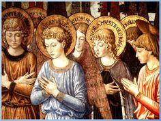 Oh santos Ángeles elegidos por Dios,  serescelestiales que nos dais esperanza y paz,  grandes protectores de los siervos del Señor,  v...