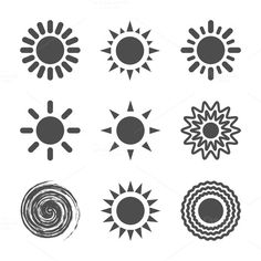 Sun icon. by Oleksii on @creativemarket