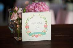 floral garland program | Jennings King #wedding