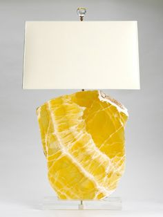 canary yellow quartz lamps.  AWESOME!