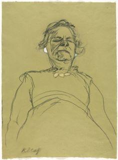 ART & ARTISTS: R. B. Kitaj - part 3 MOTHER WITH PEARLS