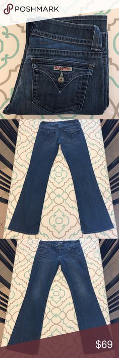 """💙👖Beautiful Hudson Jeans👖💙30 9/10 32"""" Inseam 💙👖Beautiful Hudson Jeans👖💙 Size 30 (9/10). 32.25"""" Inseam. 8.75"""" Rise. 15.75"""" Across Back. Some Stretch. Faded Medium Blue Wash. Light Fading. Super Cute! Back Flap Pockets! Love! Hudson! Macy's. Saks. Bloomingdale's. Nordstrom. Ask me any questions! : ) Hudson Jeans Jeans Boot Cut"""