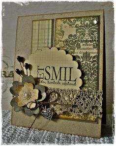 Inspiring! Gorgeous! A similar look can be recreated using Spellbinders Classic Scalloped Circle and Blossom Three!