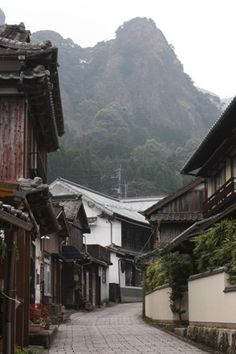 Old town called Imari. The streets with old Japanese houses