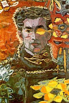 Self-Portrait on an Autumn Leave Artist: Ion Tuculescu Style: Expressionism Genre: self-portrait Selfies, Art Du Collage, Artist Biography, Art Database, Oeuvre D'art, Online Art, Find Art, Autumn Leaves, Sculptures