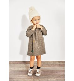 WOOL DRESS WITH STARS AND POMPOMS-DRESSES-BABY GIRL | 3 months - 4 years-KIDS | ZARA United States