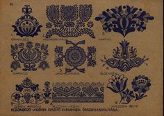 Hungarian Embroidery Stitch Hungarian Embroidery - Hungary is famous for its embroidery, for the sheer exuberance of its color and style. Discover what makes this craft popular with collectors, some history and how to make some projects of your own. Hungarian Embroidery, Folk Embroidery, Learn Embroidery, Embroidery Tattoo, Chain Stitch Embroidery, Embroidery Stitches, Embroidery Patterns, Bordado Popular, Stitch Head
