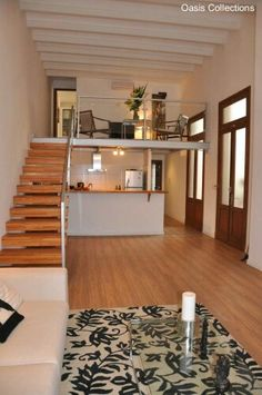 Rent corporate housing in Montevideo with personalized service. Oasis helps you seamlessly plug into the best of the city. Loft House Design, Minimal House Design, Modern Small House Design, Tiny House Loft, Small House Interior Design, Small Loft Apartments, Small Apartment Plans, Small Apartment Design, Small House Layout