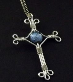 Wire-wrapped Cross by MarchelDesigns on Etsy