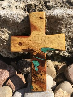Hey, I found this really awesome Etsy listing at https://www.etsy.com/listing/496708812/mesquite-cross-with-turquoise
