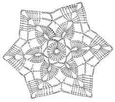 Crochet Art: Small colored crochet doilies Might try as joining motif. Crochet Snowflake Pattern, Crochet Stars, Crochet Blocks, Crochet Snowflakes, Crochet Doily Patterns, Crochet Diagram, Thread Crochet, Love Crochet, Crochet Designs