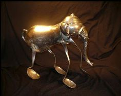Upcycle-This: Elephant Silverware Art