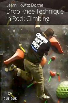 Drop Knee Technique in Rock Climbing
