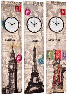 Tall 90cm Canvas Working Clock Wall Art Picture Retro Print Home Office Bedroom