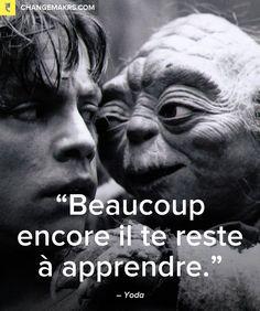 """""""Beaucoup encore il te reste à apprendre."""" Maître Yoda"""