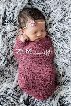 Dusty Rose Stretch Knit Baby Wrap Newborn Photography