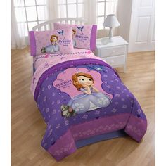 Kids' Comforters - Disney Sofia The First Graceful Reversible TwinFull Comforter *** Check this awesome product by going to the link at the image. Kids Comforters, Kids Bedding Sets, Comforter Sets, Sheets Bedding, One Bedroom, Girls Bedroom, Bedroom Ideas, Bedrooms, Bedroom Decor