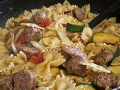 Bow Tie Pasta With Italian Sausage and Vegetables - Women Living Well