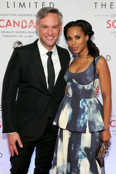 Sr. VP of Design at The Limited Elliot Staples and actress Kerry Washington attend The Limited Scandal Collection Launch Event at IAC Building on September 22, 2014 in New York City.