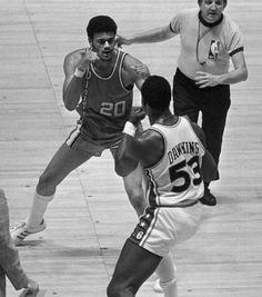NBA Brawls: Darryl Dawkins Philadelphia Sixers Vs Portland Trail Blazers