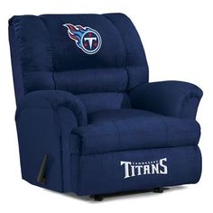 [[start tab]] Description The Tennessee Titans NFL Big Daddy Microfiber Rocker Wall-Away Recliner is made especially for the Big and Tall Fan. For added comfort, and with a knitted back, the chair is