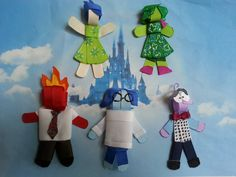 Disney Inside Out Inspired Ribbon Sculpture by SiennasBowtique