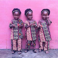 Triplets In Dakar by