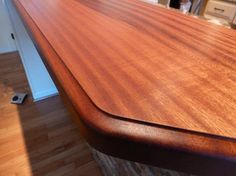 Custom Wood Countertops By The Southside Woodshop   Sapele Mahogany Wood  Countertop. This Raised Bar