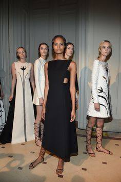 #MalaikaFirth #backstage @ Valentino Fall 2014 Couture. Paris.