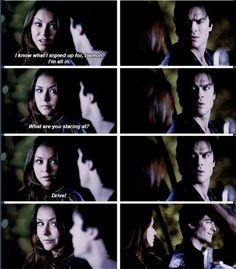 The fact that she'd rather die than live without him <3 Delena Always